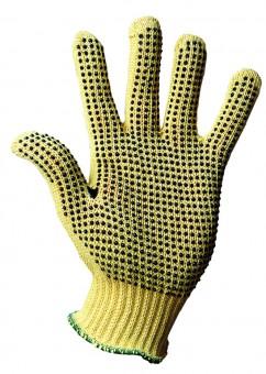 KEVLAR-Feinstrick-Handschuh • CE CAT 1 • mit einseitiger Punktbenoppung