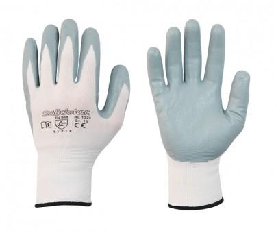 Nylon-Feinstrick-Handschuh • CE CAT 2 • mit Nitril-Schaum-Beschichtung