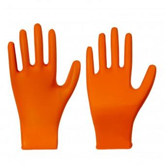 Nitril-Einmalschutzhandschuh • GRIPSTER • orange • Stärke 0,15 mm • Box à 50 Stück