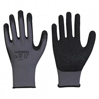 Nylon-Feinstrick-Handschuh • CE CAT 2 • mit schwarzer Latex-Beschichtung