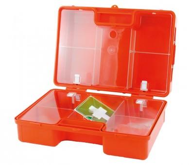 Erste-Hilfe-Koffer 'Olympia', leer, orange, mit Wandhalterung, Maße: 32 x 22 x 12,5 cm