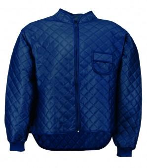 Thermo-Unterzieh-Jacke mit Nierenschutz, Rippenbündchen am Handgelenk, Farbe: blau