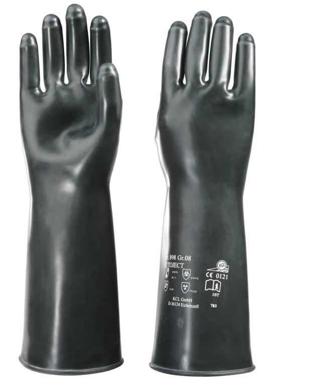 Bekleidung & Schutzausrüstung Airsoft KCL Chemikalienhandschuh Butoject 897 Gr.8